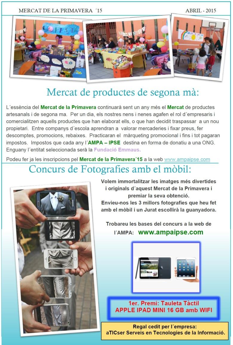 Ampa Informa 44 Mercat Primavera 2015 p3