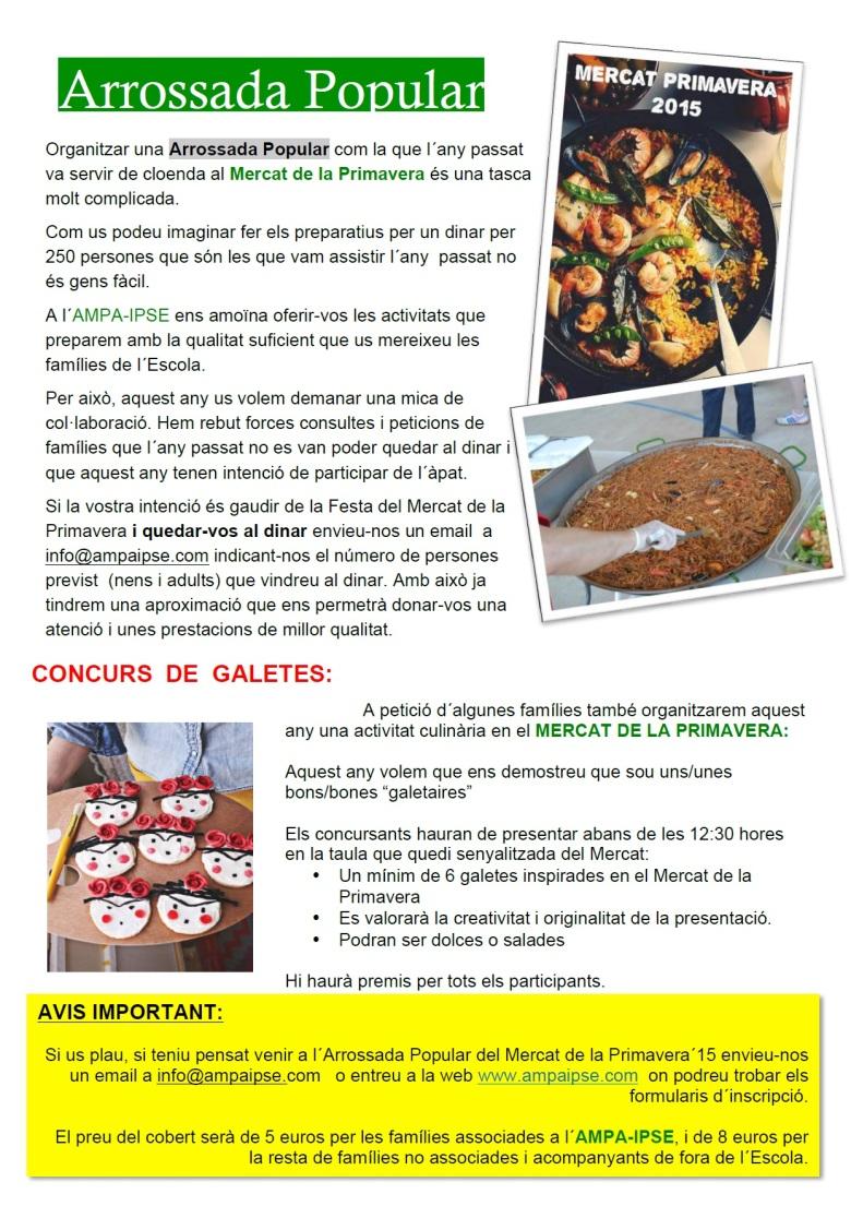 Ampa Informa 44 Mercat Primavera 2015 p5